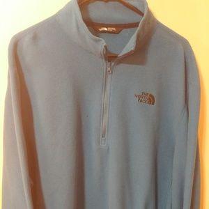 The North Face 3/4 Zip Pullover Fleece Jacket Blue